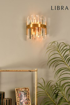 Libra Crystal Statement Wall Light