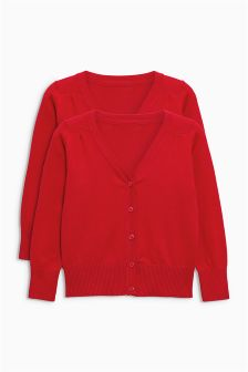V-Neck Cardigan Two Pack (3-16yrs)