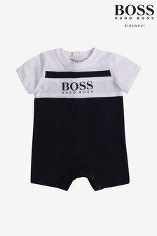 ثوب أطفالأزرق داكن منBOSS