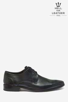 Square Toe Leather Derby Shoes