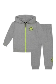 Boys Grey Heather Cotton Tracksuit
