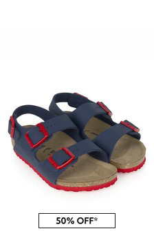 Birkenstock Boys Blue Milano Sandals