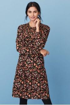 Smocked Long Sleeve Dress