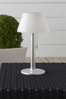 Buy homeware lighting outdoor lighting silver outdoorlighting from solar large white table lamp mozeypictures Images