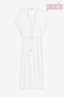 Panache White Beach Kimono Dress