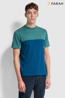 Farah Midnight Blue Banstead Short Sleeve T-Shirt
