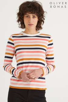 Oliver Bonas Pink Multi Stripe Top