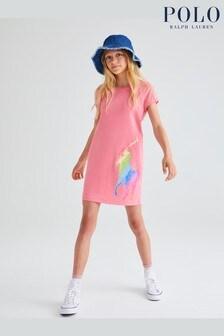 Ralph Lauren Pink Pony T-Shirt Dress