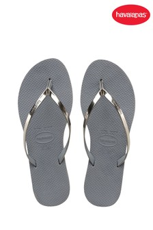 Havaianas® You Grey Metallic Flip Flop