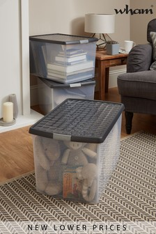 Set of 2 Clip 62L Boxes by Wham