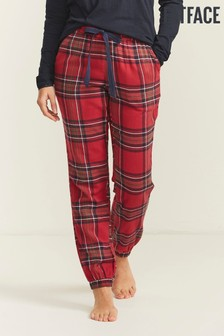 FatFace Red Red Check Cuffed Pyjama Pants