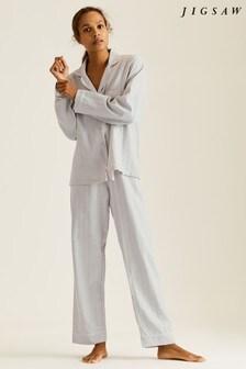 Jigsaw Grey Sadie Herringbone Pyjamas