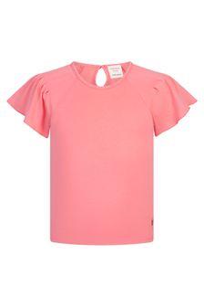 Carrement Beau Girls Red Cotton T-Shirt