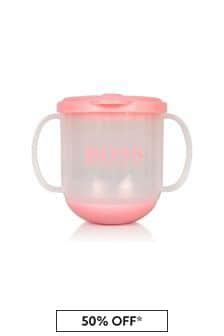 Boss Kidswear BOSS Baby Girls Pink Sippy Cup