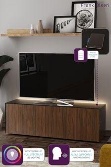 Frank Olsen Smart LED Black and Walnut Large TV Unit