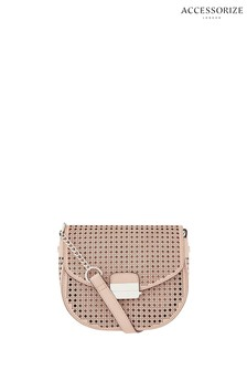 Accessorize Nude Punch Out Cross Body Bag