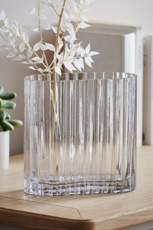 Oblong Glass Vase