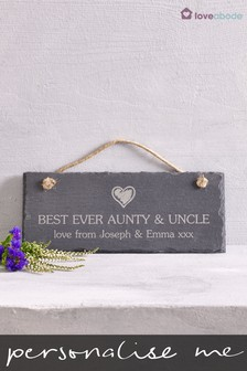 Personalised Real Slate Plaque by Loveabode