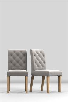 Set Of 2 Moda II Button Chairs
