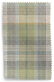 Versatile Check Milton Green Upholstery Fabric Sample