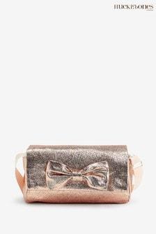 Hucklebones Pink Bow Cross Body Bag