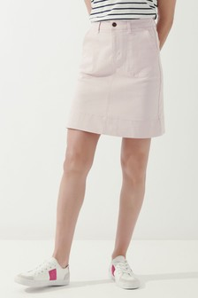 Crew Clothing Company Pink Remy Denim Skirt