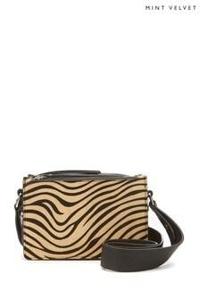 Mint Velvet Black Sara Zebra Tote Bag