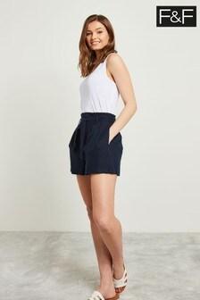 F&F Blue Linen Short