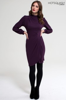 HotSquash Damson Jersey Agnes Long Sleeved Dress