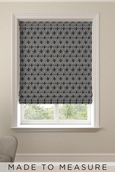 Hallam Danube Blue Made To Measure Roman Blind