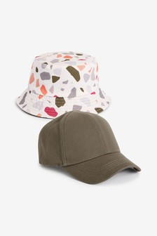 2 Piece Cap And Bucket Hat Set (3mths-10yrs)