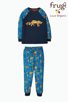 Frugi Blue Leopard Organic Cotton Pyjamas Set