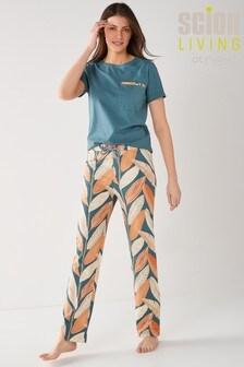 Scion At Next Blue Floral Cotton Pyjamas