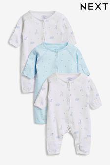 3 Pack Premature Sleepsuits (0-0mths)
