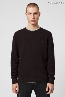 AllSaints Red Wells Crew Sweater