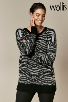 Wallis Black Leopard Jumper