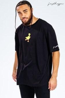 Hype. x Sesame Street Big Bird Black Logo Adults T-Shirt