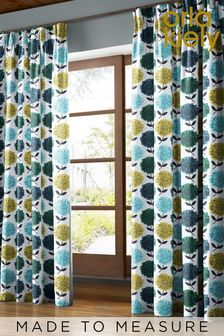 Hydrangea Made To Measure Curtains by Orla Kiely