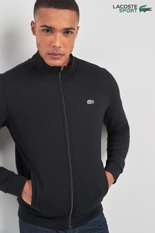 Lacoste® Sport Black Zip Through Track Top