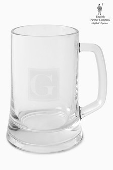English Pewter Company 500ml Personalised Glass Tankard