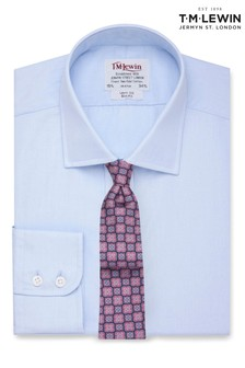 T.M. Lewin Slim Fit Light Blue End On End Button Cuff Shirt