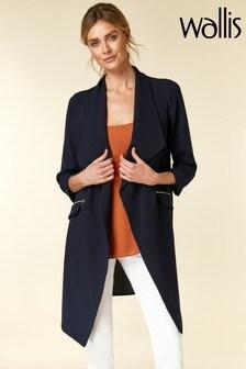 Wallis Navy Daisy Duster Jacket