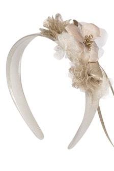 Girls Pink Flower Headband