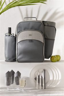 4 Person Geo Filled Picnic Backpack