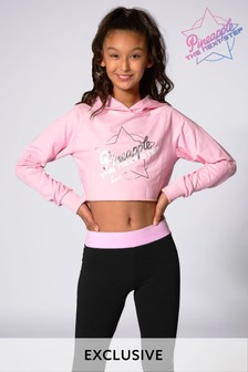 Pineapple Pink The Next Step Crop Hoody