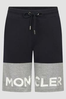 Moncler Enfant Boys Black & Grey Cotton Shorts