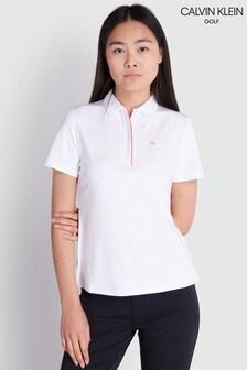 Calvin Klein Golf White Elbe Polo