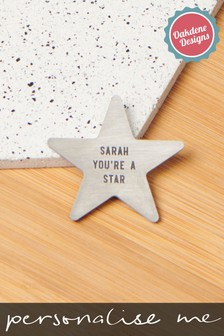 Personalised Star Pocket Coin Gift by Oakdene Designs