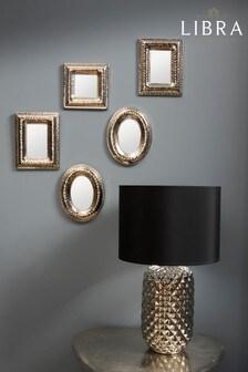 Libra Hammered Silver Rectangular Mirror