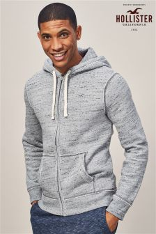Hollister Grey Classic Zip Through Hoody
